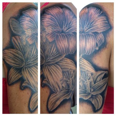 Tattoos - lilly flowers  - 100405
