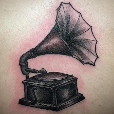 Tattoos - phonograph tattoo - 98237