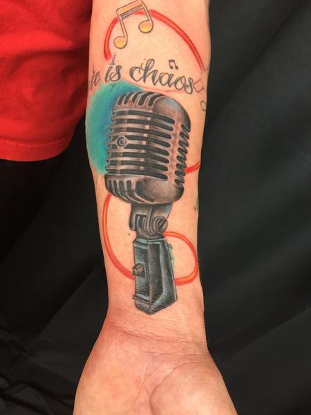 Tattoos - old microphone - 104606