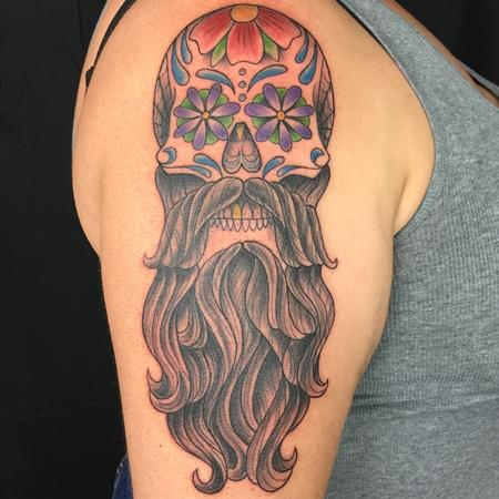 Tattoos - BEARD SKULL - 134762