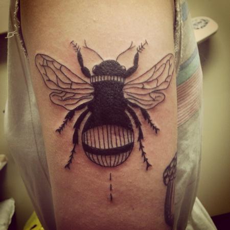 Pineapple  - Bumblebee tattoo