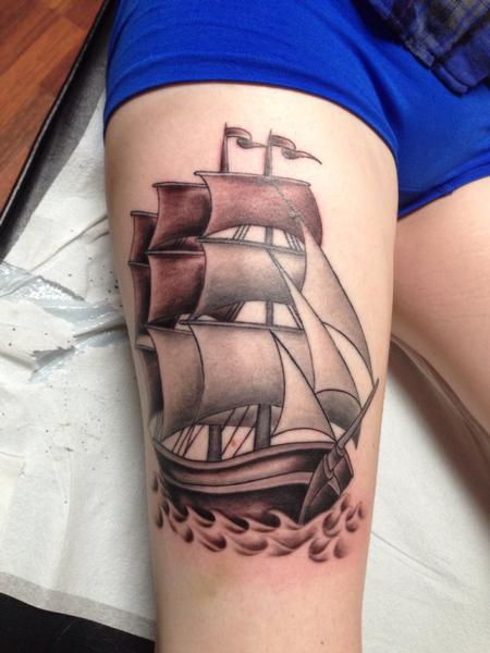 Tattoos - Ship - 91278