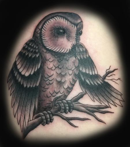 Tattoos - Owl TATTOO - 106408