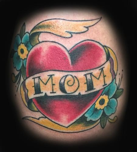 Tattoos - heart mom  - 100467