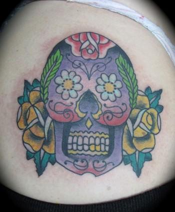 Tattoos Skull tattoos traditional sugar skull