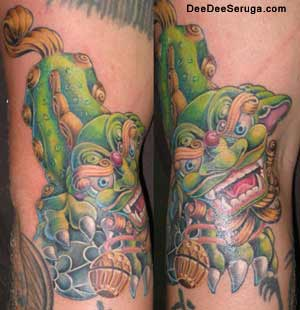Dee Dee - foo dog tattoo