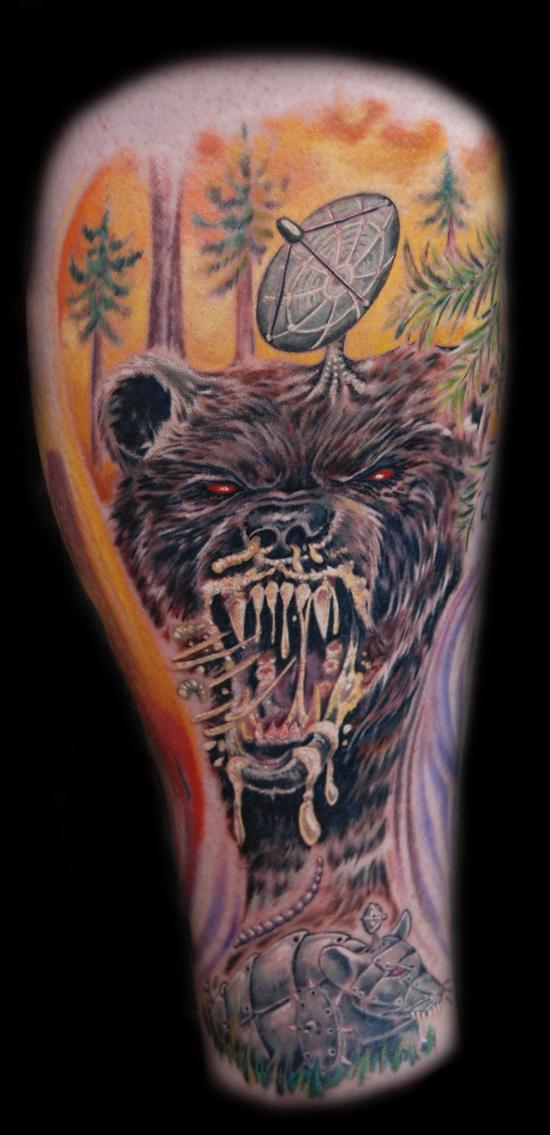Looking for unique  Tattoos? killer bear!