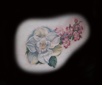 Looking for unique  Tattoos? magnolia and dogwood blossoms