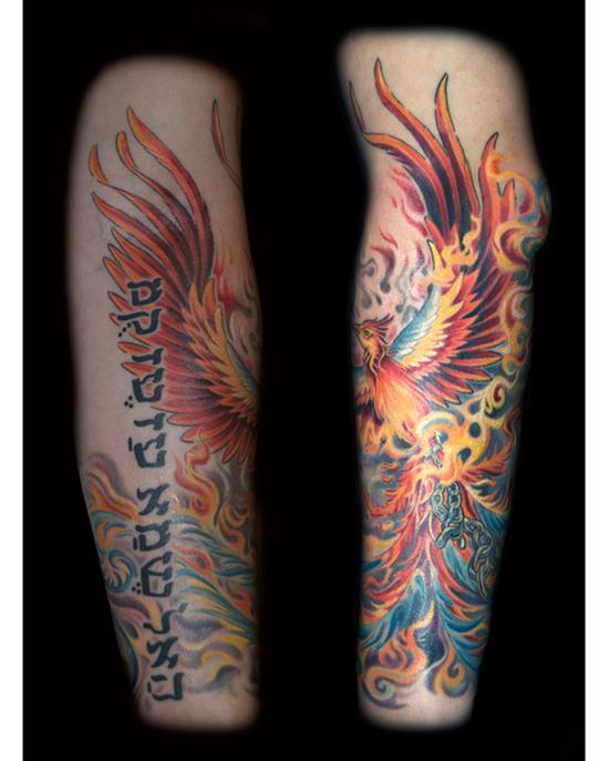 Looking for unique  Tattoos? phoenix breaking free