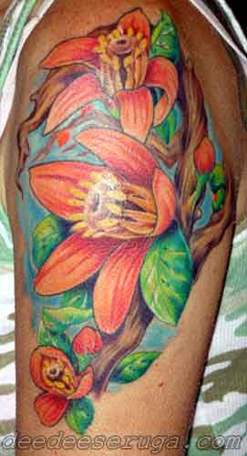 Looking for unique  Tattoos? orange blossom color tattoo