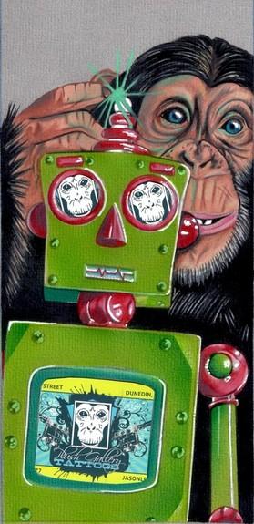 Jason A Leigh - Monkey and Robot