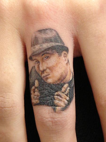 Tattoos - miniature portrait of mario sanchez by mario sanchez - 55167