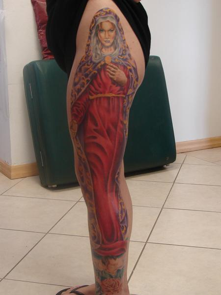 Tattoos - realistic virgin mary by mario sanchez - 55073