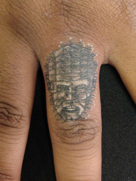 Tattoos - miniature portrait of pin head by mario sanchez - 55170