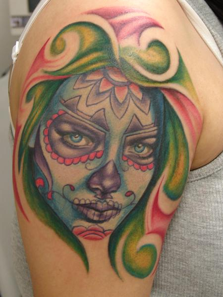 Tattoos - realistic color day of dead by mario sanchez - 55060