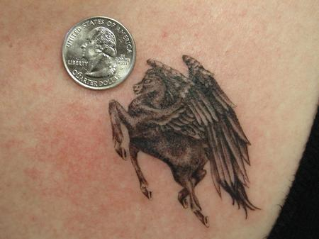 Tattoos - realistic miniature flying horse by mario sanchez - 55175