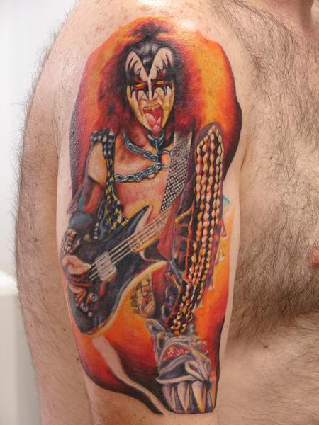 Tattoos - portrait of gene simmons by mario sanchez - 55072