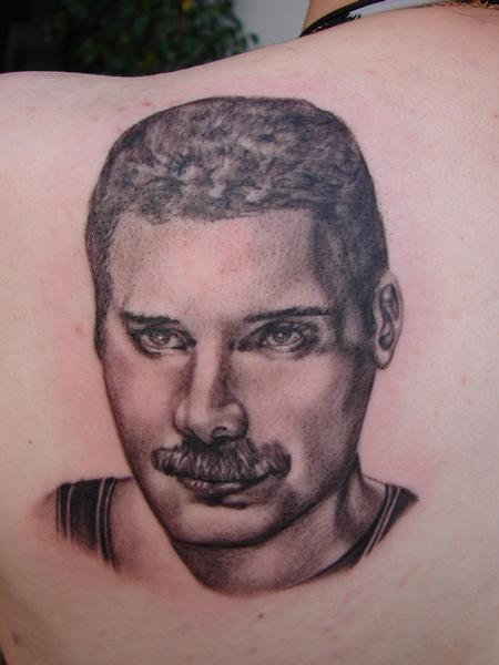 Tattoos - portrait of Freddie Mercury by Mario Sanchez - 56144