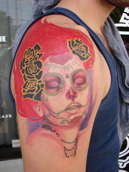 Tattoos - day of dead woman by mario sanchez - 58330