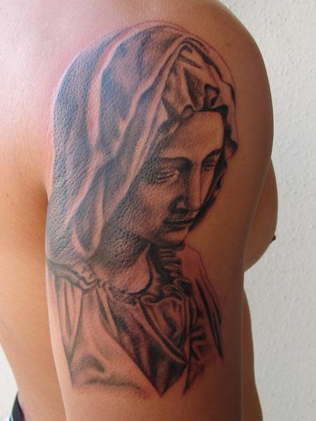 Tattoos - virgin mary portrait by mario sanchez - 59241
