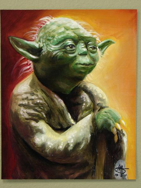 Mario Sanchez  - yoda oil painting by mario sanchez
