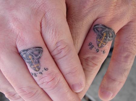 Tattoos - ring finger tattoos - 59749