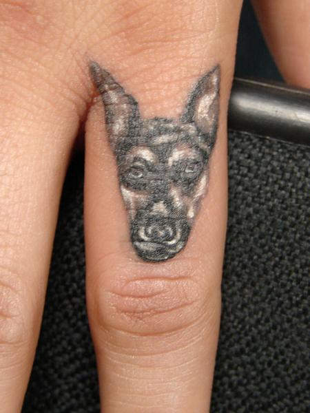 Tattoos - miniature color dog by Mario Sanchez - 61676