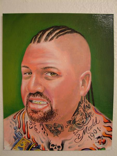 Tattoos - original painting by Mario Sanchez - 61769