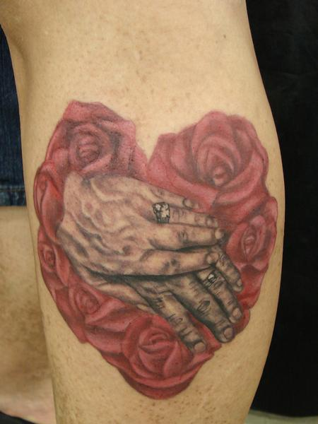 Tattoos - Realistic hands and Roses by Mario Sanhcez - 67565