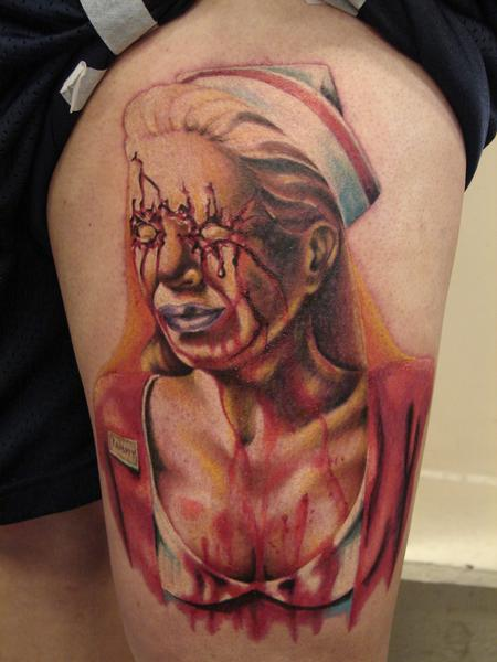 Tattoos - realistic nurse from silent hill by mario sanchez - 55086