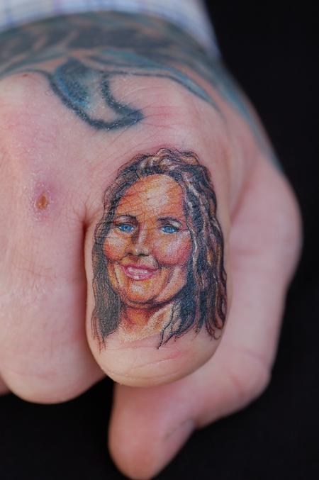 Tattoos - miniature portrait of a lady by mario sanchez - 55183