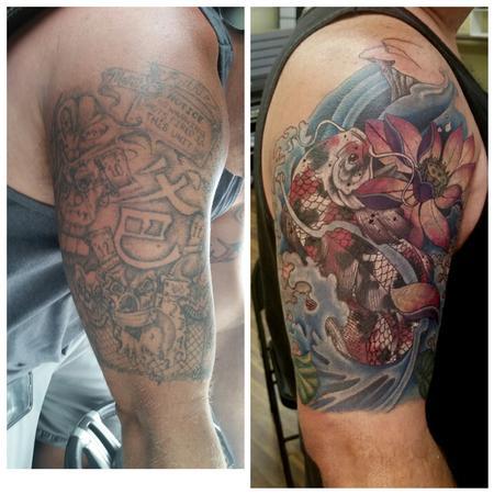 Tattoos - Jail house koi cover - 125029