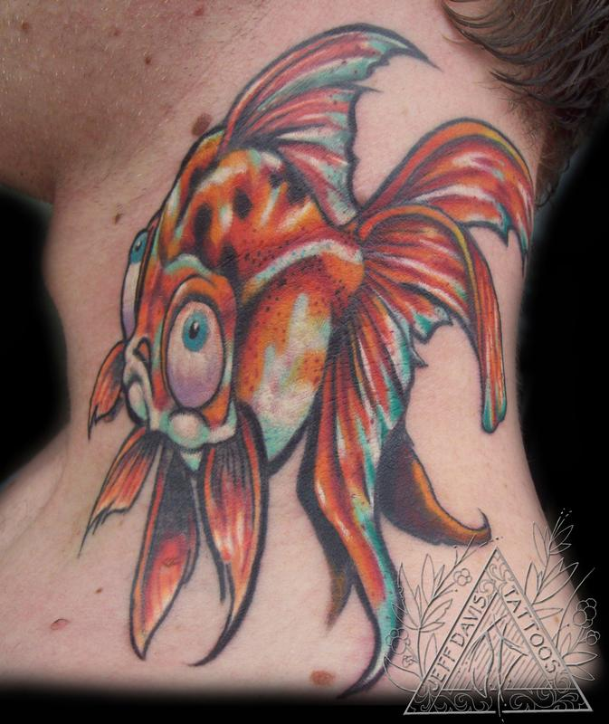 gold fish by jeff davis sr tattoonow. Black Bedroom Furniture Sets. Home Design Ideas