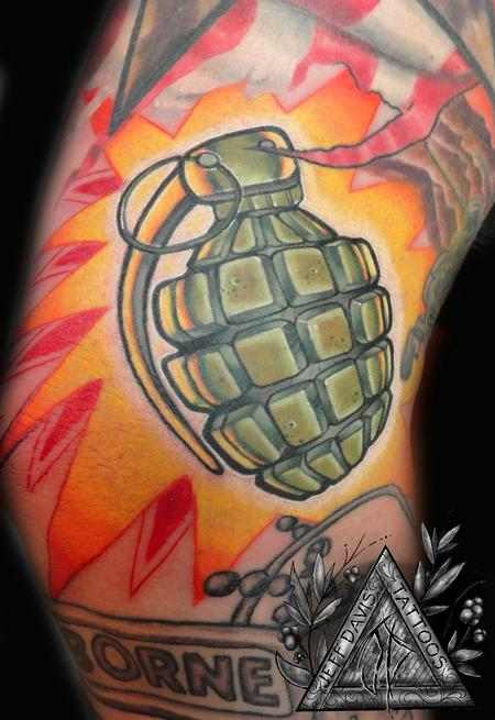 Jeff Davis Sr. - Grenade Tattoo
