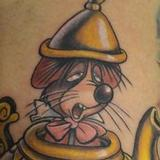 Tattoos -  Alice in wonderland mouse in tea pot - 70532