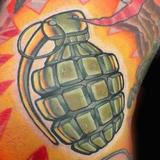 Tattoos - Grenade Tattoo - 70577