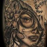 Womens face Tattoo Design Thumbnail