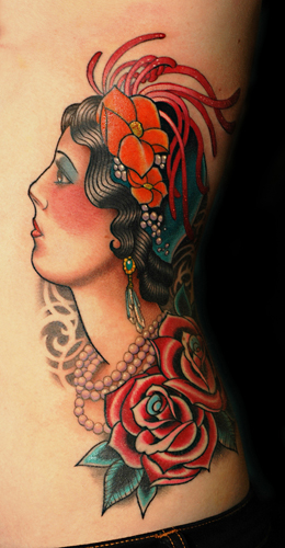Tattoos - Flapper girl - 28611