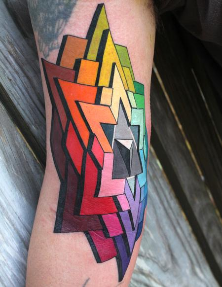 Color Wheel Tattoo Design Thumbnail