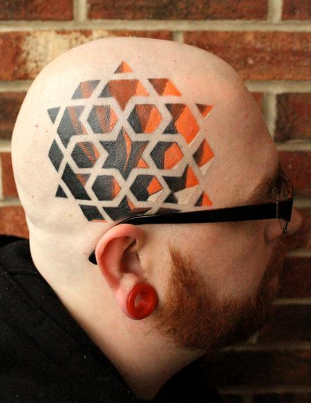 Tattoos - 3D head - 94267