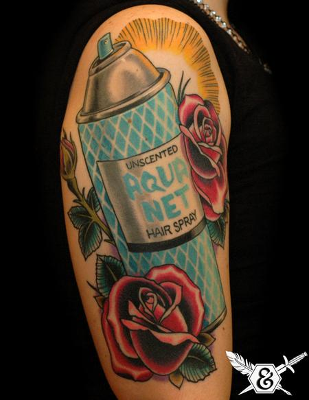 Tattoos - Aqua Net/ Roses - 70057