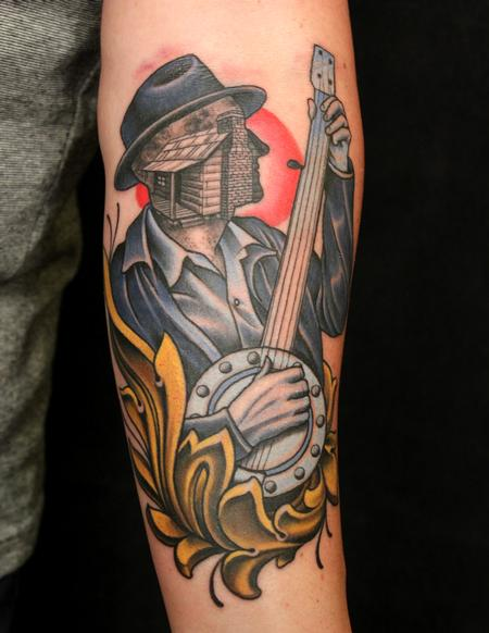 Tattoos - Banjo guy - 94270
