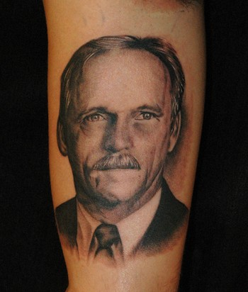 Russ Abbott - Dad Portrait Tattoo