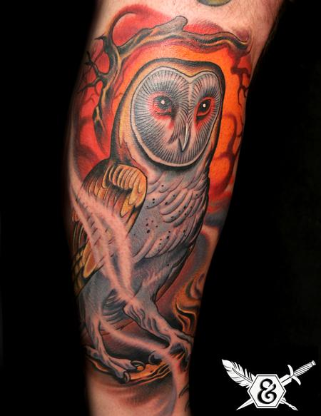 Tattoos - Barn Owl - 70064