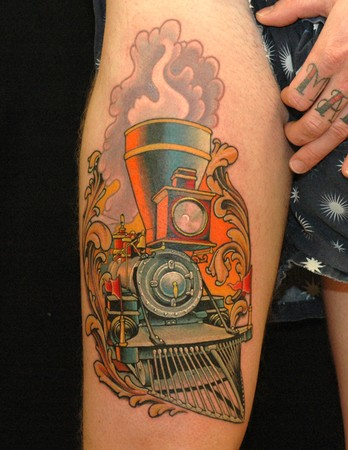 Tattoos - Locomotive Tattoo - 35767