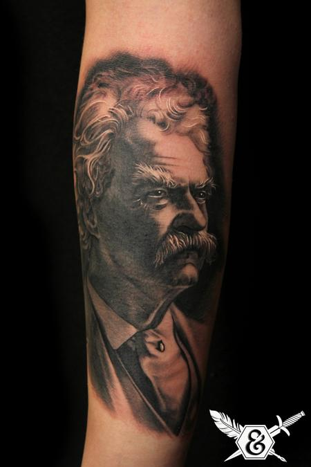 Tattoos - Mark Twain portrait - 70072