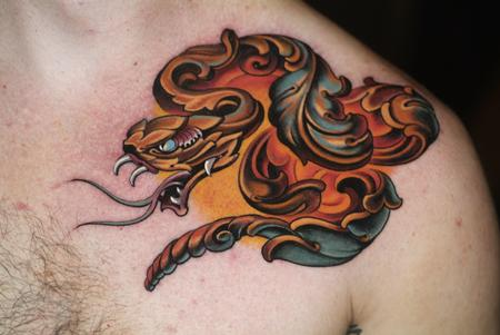 ornamental snake Tattoo Design