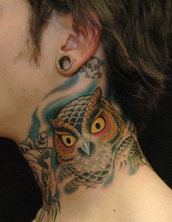 Tattoos - Owl Neck - 35768