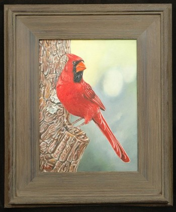 Russ Abbott - Cardinal-oil on canvas