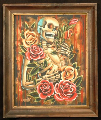 Tattoos - Skeleton and Roses - 47260